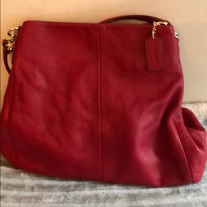 Coach soft red leather
